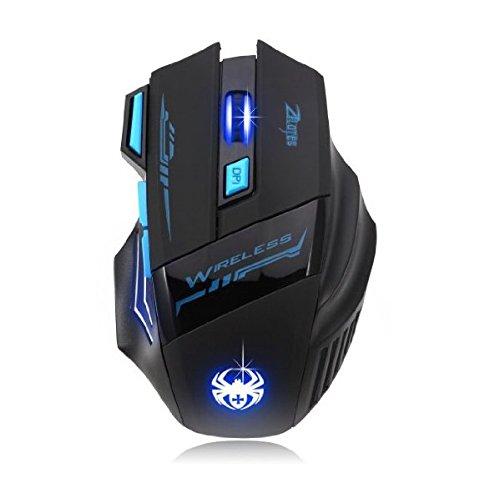 AFUNTA Zelotes Wireless Gaming Mäuse Mouse mit 7 Taste Einstellbare ...